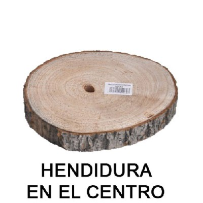 TOCON MADERA DIAM 21 cm - GROSOR 2,2 cm
