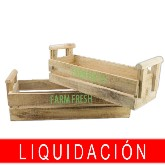 SET 2 CAJAS MADERA FARM FRESH COLOR NATURAL